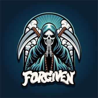 Grim reaper mascotte logo afbeelding