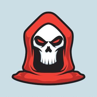 Grim reaper mascotte logo