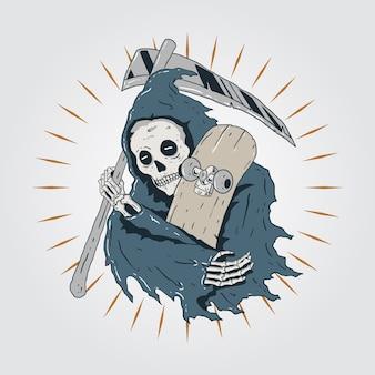 Grim scateboard reaper