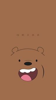 Grizzly beer behang