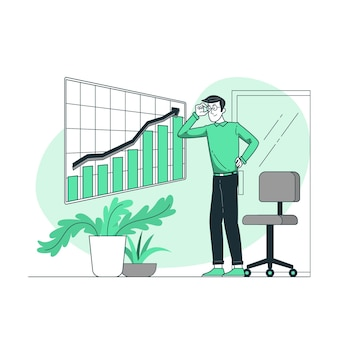 Groei analytics concept illustratie