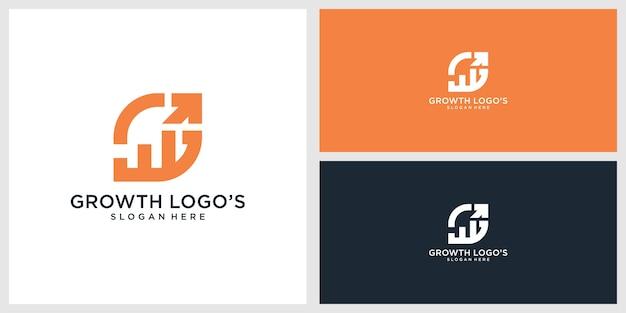 Groei logo ontwerpsjabloon