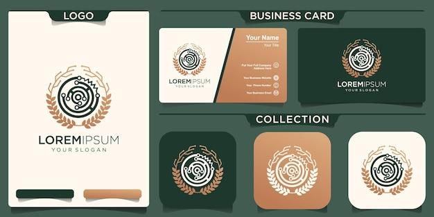 Groei technologie ornament logo ontwerp