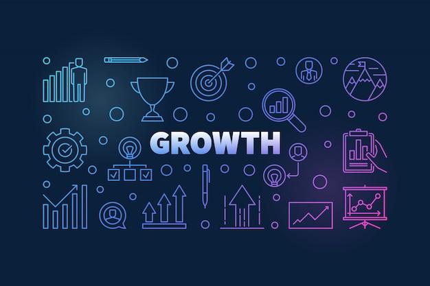 Groei vector gekleurde horizontale achtergrond