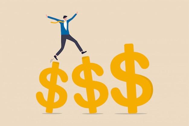 Groei verdienen investeringen illustratie