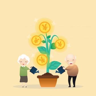Groeiende geldboom.