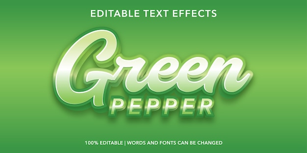 Groen 3d-stijl bewerkbaar teksteffect