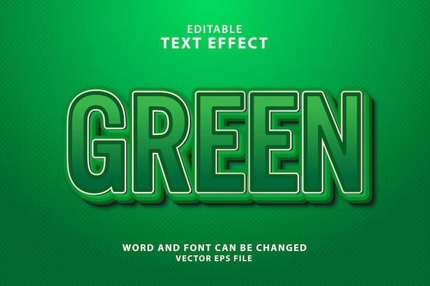 Groen 3d-teksteffect