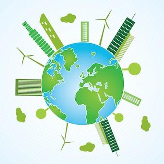Groen aarde duurzame ontwikkelingsconcept