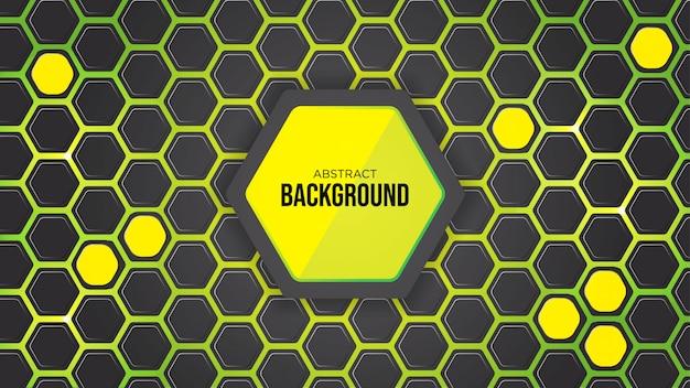 Groen abstract hexagon ontwerp als achtergrond