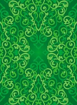 Groen abstract patroon voor textiel.