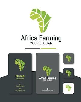 Groen afrika logo ontwerp landbouw landbouw