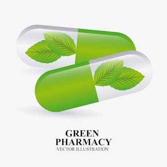 Groen apotheekontwerp
