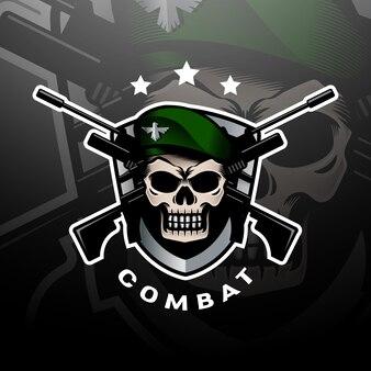 Groen baret schedel logo esport