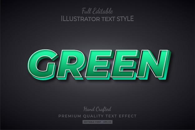 Groen bewerkbare 3d-tekststijl effect premium