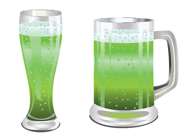 Groen bierglas