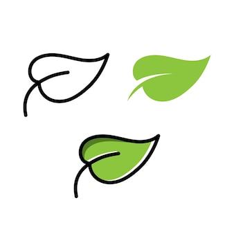 Groen blad ecologie vector pictogram logo