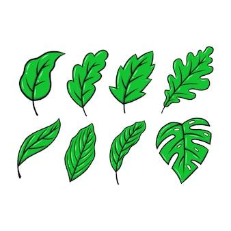 Groen blad illustratie eco natuur symbool Premium Vector