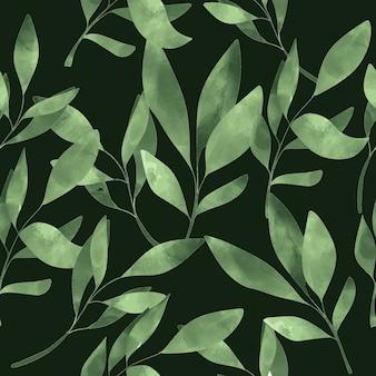 Groen blad naadloos patroon
