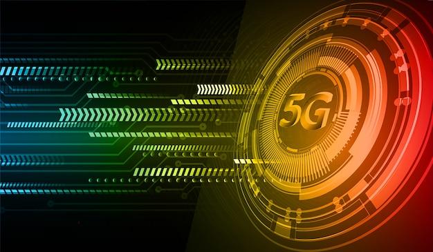 Groen blauw cyber circuit toekomst technologie concept achtergrond
