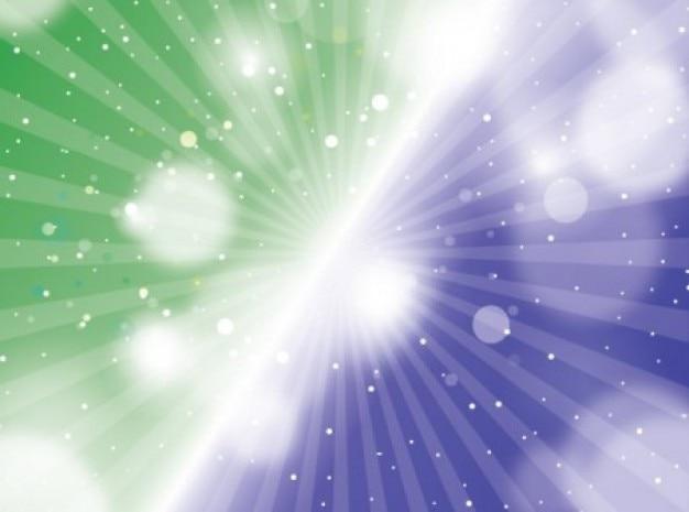 Groen-blauw gestreepte achtergrond met fakkels