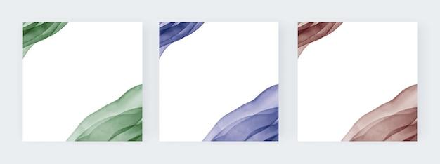 Groen blauwe en bruine aquarel lijnen