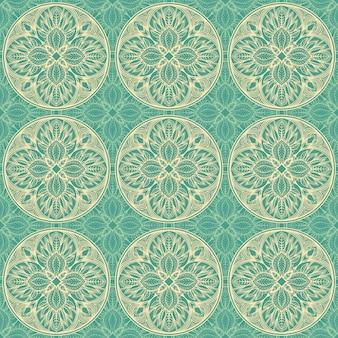 Groen bloemenpatroon
