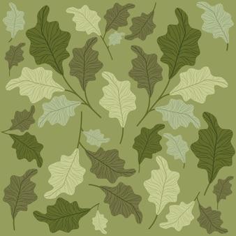 Groen doorbladert patroonachtergrond