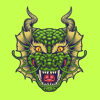 Groen draakhoofd