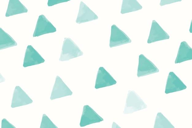 Groen driehoekig naadloos patroonbehang