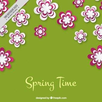 Groen en roze voorjaar achtergrond