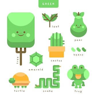 Groen en vocabulaire woordenpakket