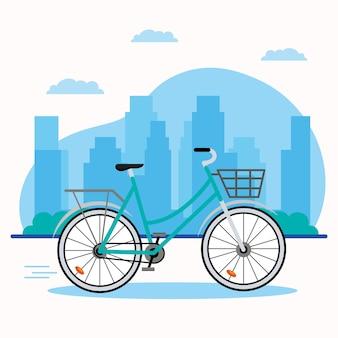 Groen fietsvoertuig Premium Vector