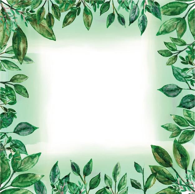 Groen frame aquarel