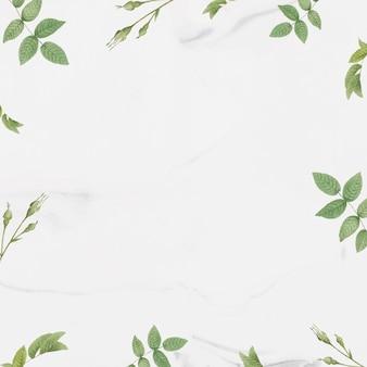 Groen gebladerte patroon frame vector