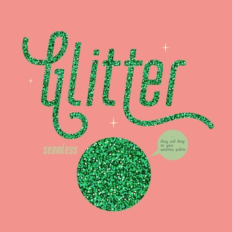 Groen glitter naadloos patroon