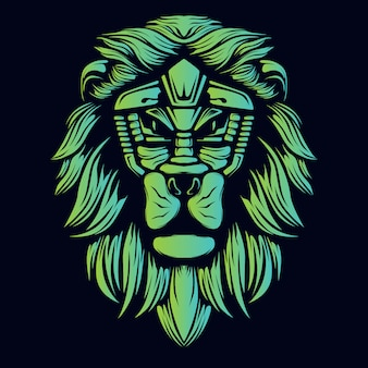 Groen gloeiend leeuwenkop