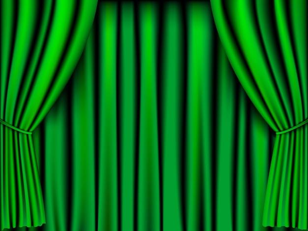 Groen gordijn voor achtergrond