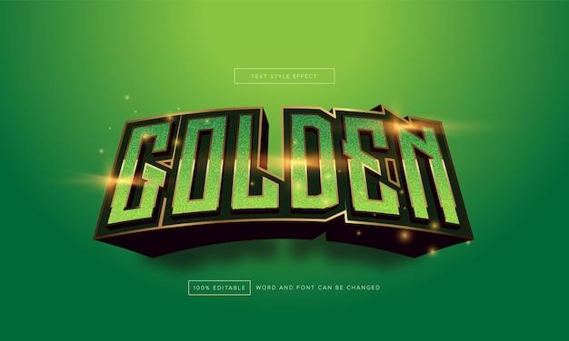 Groen gouden teksteffect bewerkbaar