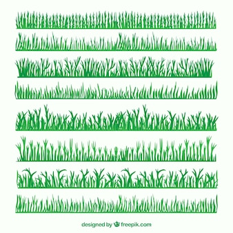 Groen gras grens pak
