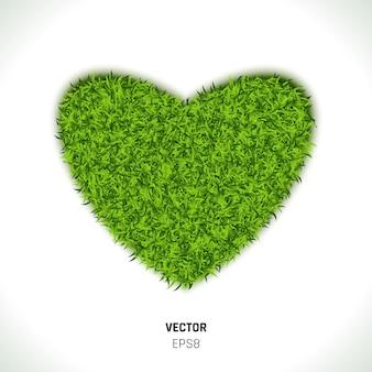 Groen gras hart illustratie
