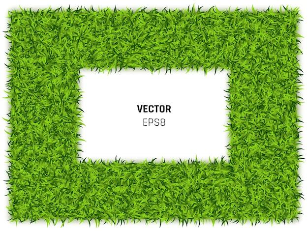 Groen gras rechthoek illustratie