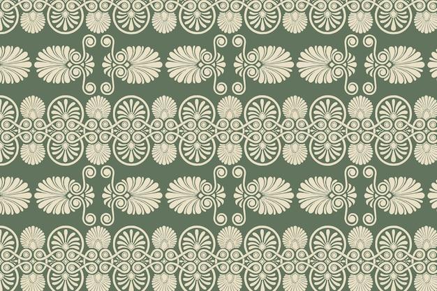 Groen grieks sleutel naadloos patroon