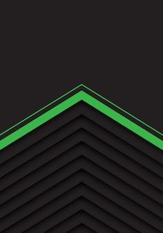 Groen grijs pijlpatroon met zwarte lege ruimteachtergrond.