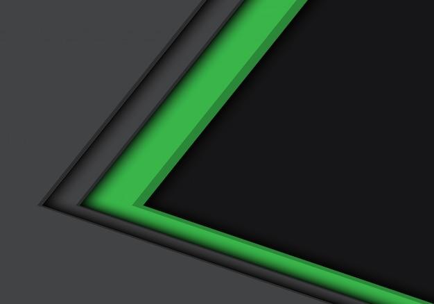 Groen grijze pijl richting met lege ruimte achtergrond.