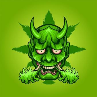 Groen hanyajuana-masker