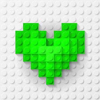 Groen hart gemaakt van bouwpakket
