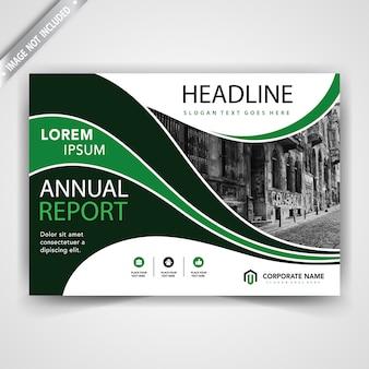 Groen horizontaal reclameboekje