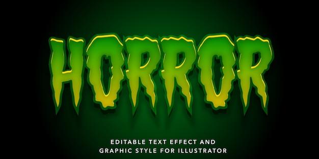 Groen horror bewerkbaar teksteffect