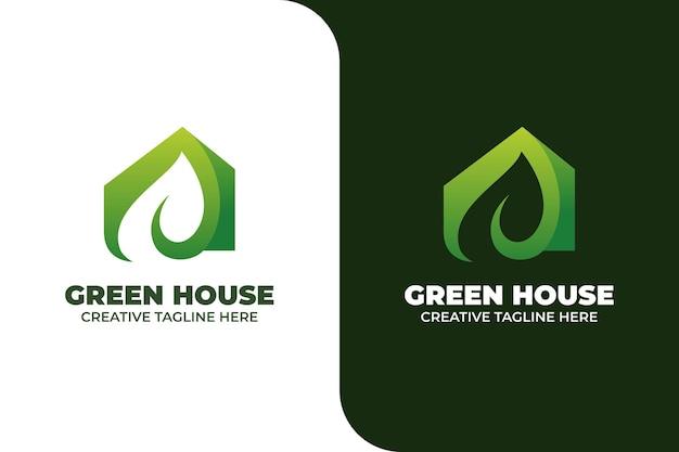 Groen huis gebouw architectuur gradiënt logo